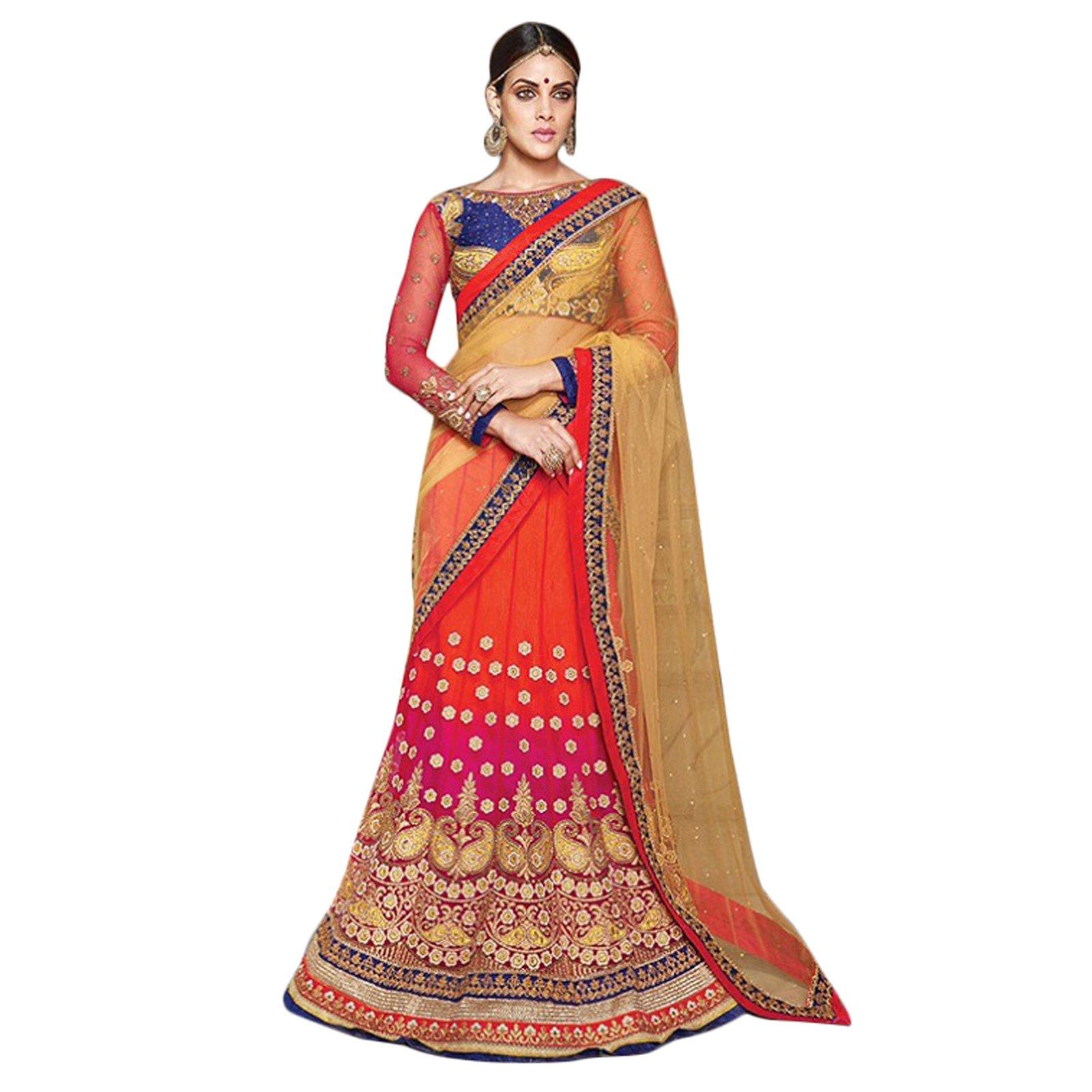 Indian Designer Bollywood Ethnic Semi Stitched Wedding Party Wear Lehenga Choli