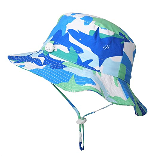 6b3d11a3a Flammi Baby Sun Hat Adjustable Mesh Lined UV Protection Toddler Bucket Hat  Kids Summer Play