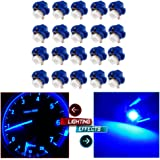CCIYU 20 Pack Purple Blue Car T5 B8.4D 5050 1SMD LED Lamps Dashboard Side Indicator Lights