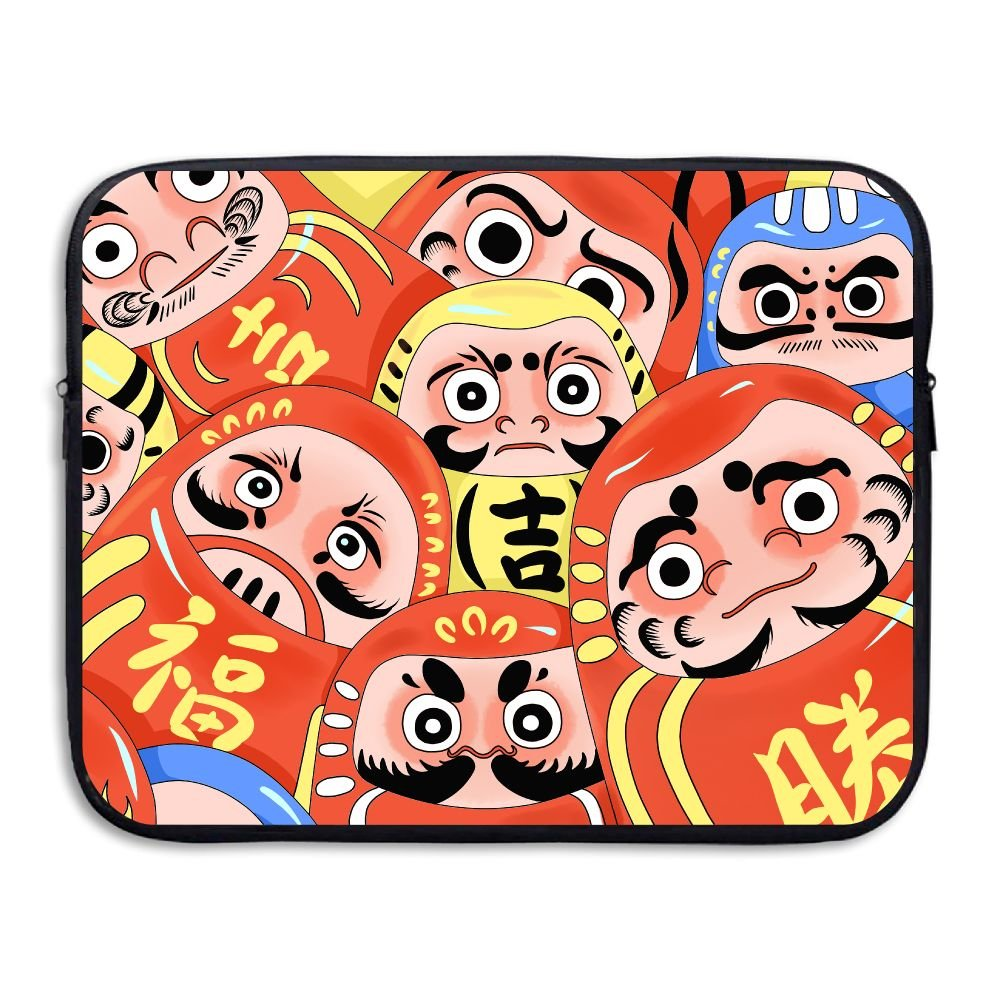 Chinese Doll Love Art Laptop Storage Bag - Portable Waterproof Laptop Case Briefcase Sleeve Bags Cover