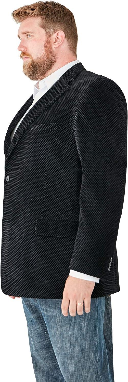 Navy Tall-56 Kingsize Signature Collection Mens Big /& Tall Kingsize Signature Collection Velvet Blazer