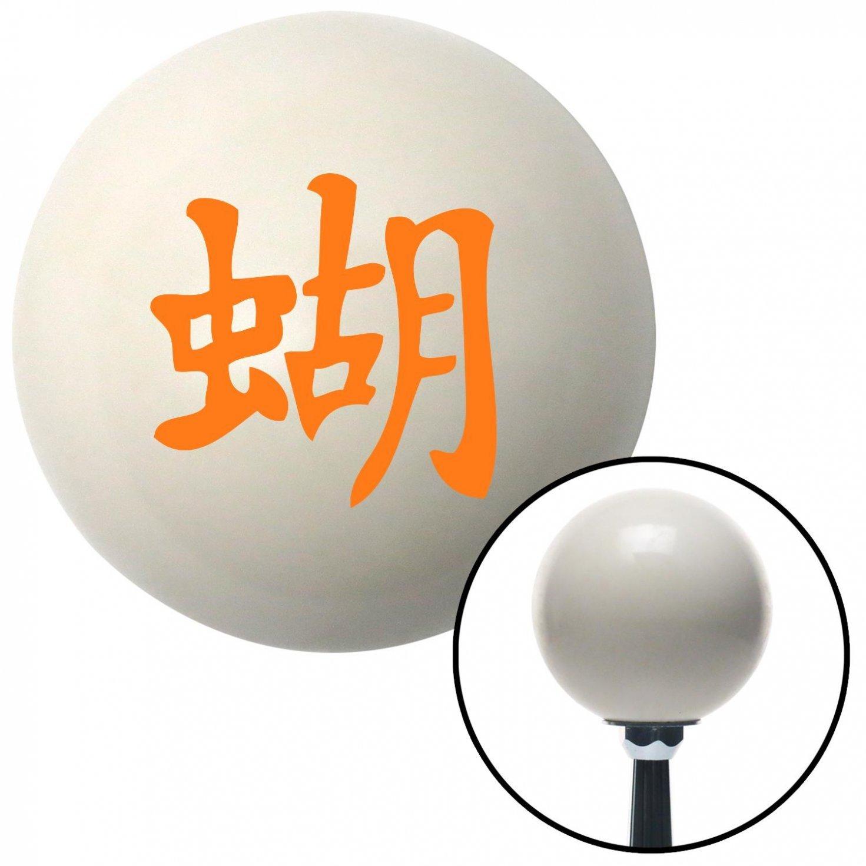 Orange Chinese Symbol 2 American Shifter 33959 Ivory Shift Knob with 16mm x 1.5 Insert