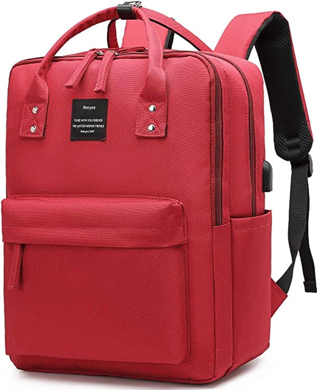 Ronyes Laptop Backpack 15.6 Inch Waterproof College Bag School Daypack Bookbag for Women Men