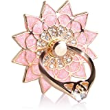 Phone Holder, We Love Case Ring Rotating Metal Alloy Diamonte Shiny Sparkly Holder Ring Stand Cute Design Kickstand, Phone Grip for iPhone 7 7 Plus iPhone 6 6S iPhone 5 5S 5C SE Samsung S7 S7 Edge S6 S6 Edge S5 Note 4 All Tablet iPad and Kindle and More - Heart Diamonte