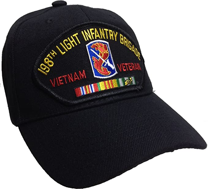 13dd6de86a6 Image Unavailable. Image not available for. Color  Hawkins Military  Merchants 198th Light Infantry Brigade Hat Vietnam Veteran