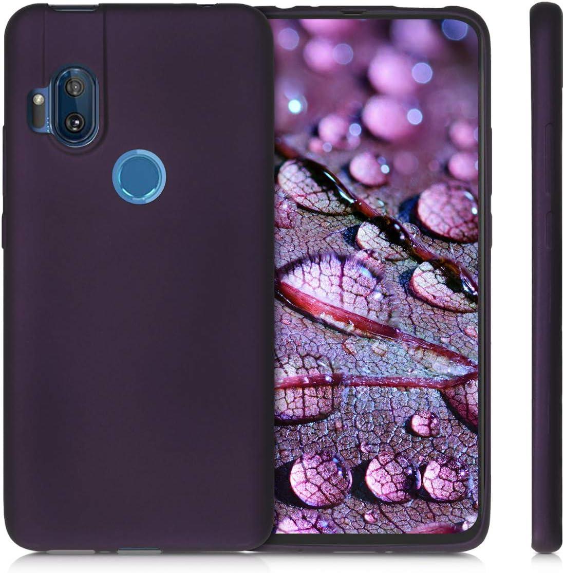 kwmobile Funda Compatible con Motorola One Hyper Carcasa m/óvil de Silicona Protector Trasero en Frambuesa met/álico