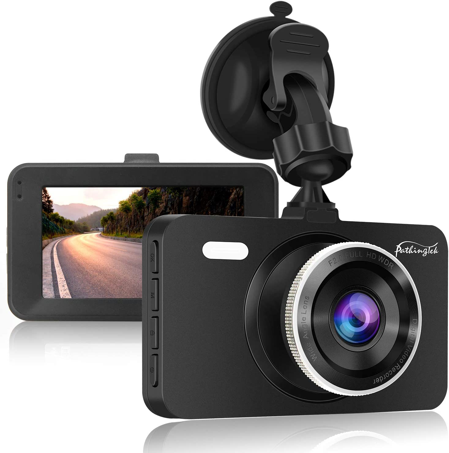 170 Wide Angle Car DVR Vehicle DashCam Built in G-Sensor Dash Cam by Amebay Full HD 1080P Dashboard Camera Recorder Loop Recording with 16GB SD Card