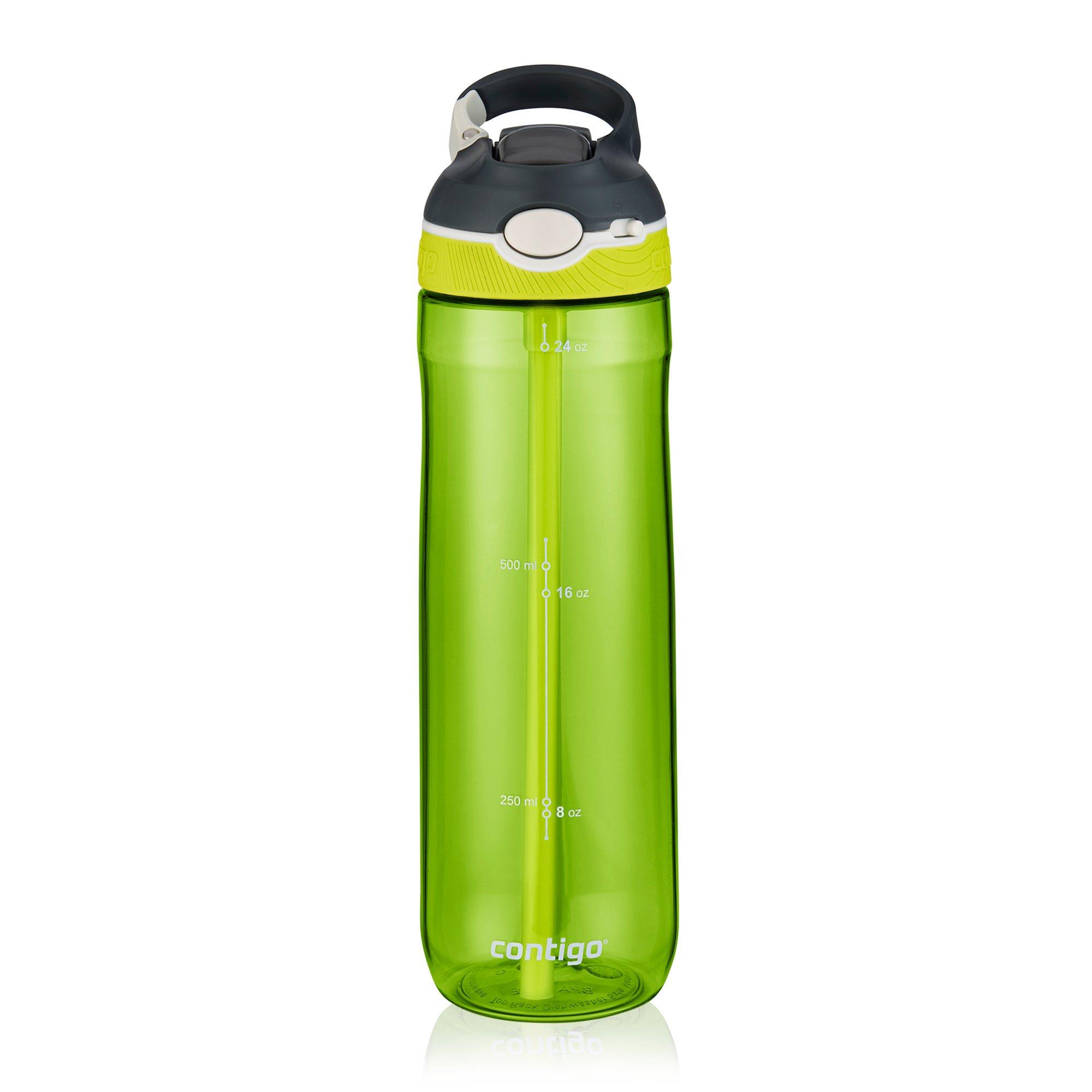 Contigo AUTOSPOUT Straw Ashland Water Bottle, 24 oz, Stormy Weather/Vibrant Lime/Monaco, 3-pack by Contigo (Image #6)