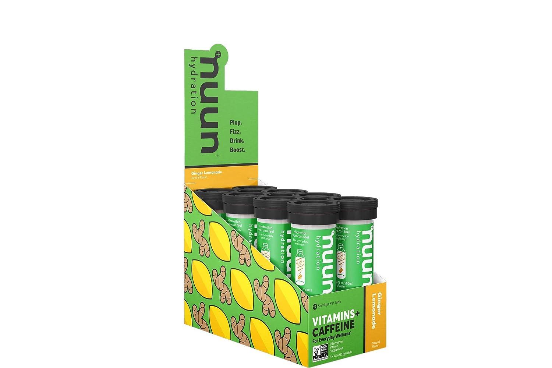Nuun Hydration: Vitamin + Electrolyte + Caffeine Drink Tablets, Ginger  Lemonade, Box of 8 Tubes