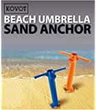 Kovot Beach Umbrella Sand Anchor - Hold Your Umbrella In Place At the Beach - 1 Unit Included (Assorted Colors Orange or Blue) (1)