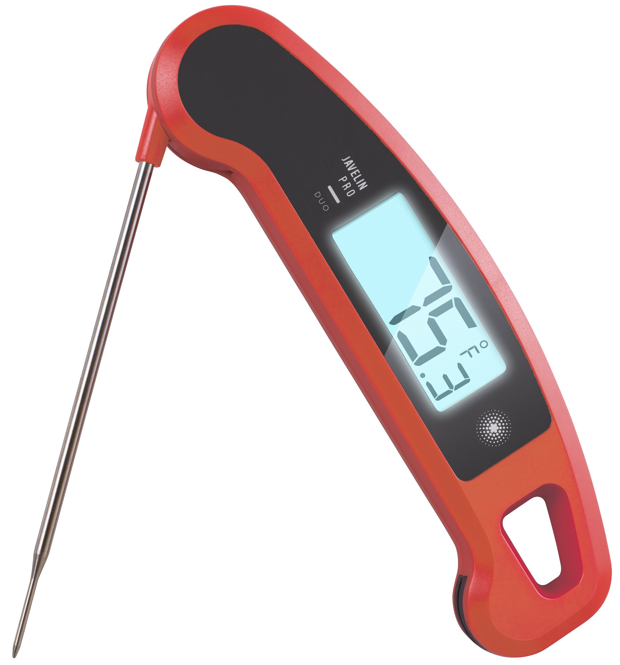 Lavatools Javelin PRO Duo Ambidextrous Backlit Instant Read Digital Meat Thermometer (Chipotle) by Lavatools
