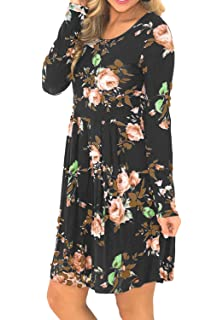 Grey Long Sleeve Casual Dresses