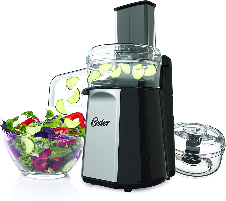 Oster Oskar 2-in-1 Salad Prep & Food Processor, Black FPSTFP4050 (Silver)