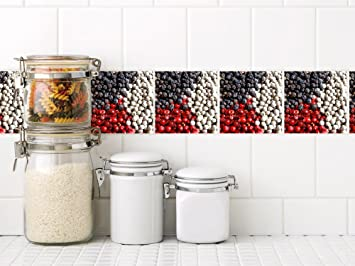 Küchenkacheln überkleben graz design fliesenaufkleber küche rot schwarz pfeffer fliesen