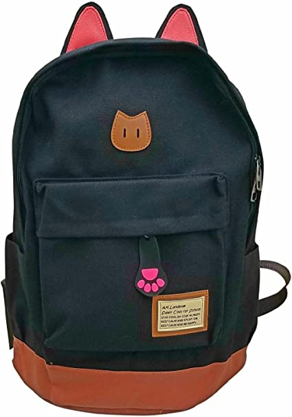"Red AM Landen®Super Cute Canvas 14/"" Laptop Backpack School Bag"