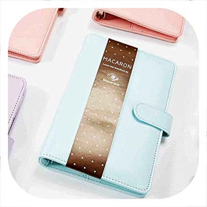 Amazon.com : Hot 160 Pages Macaron Leather Spiral Notebook ...