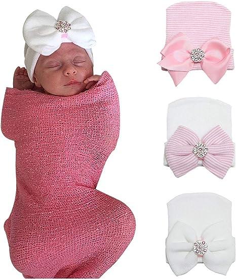 Head Band Off White /& Pink  Newborn 3 Months Handmade Crochet Baby Girl Booties