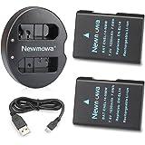 Newmowa EN-EL14 EN-EL14a 互換バッテリー 2個 + 充電器 セットNikon EN-EL14 EN-EL14a Nikon D3100 D3200 D3300 D3400 D5100 D5200 D5300 D5500 D5600 P7000 P7100 P7700 P7800
