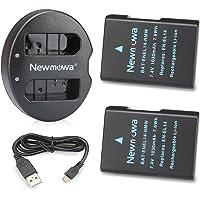 Newmowa EN-EL14 Battery (2 Pack) and Dual USB Charger for Nikon EN-EL14, EN-EL14a and Nikon P7000, P7100, P7700, P7800, D3100, D3200, D3300, D3400, D5100, D5200, D5300, D5500