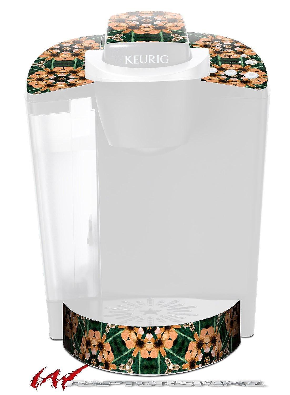 フローラルパターンオレンジ – デカールスタイルビニールスキンFits Keurig k40 Eliteコーヒーメーカー( Keurig Not Included )   B017AK6MZY
