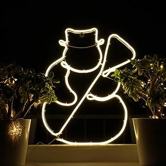 Weihnachtsdeko Am Fenster.Amazon De Weihnachtsdeko Fenster Led Schneemann Fensterbilder