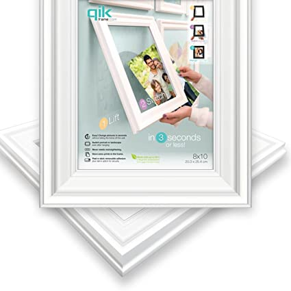 Amazon.com: QIK FRAME: Quick Change Wall Picture Frame, 8x10 White ...