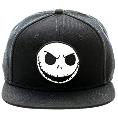 Image Unavailable. Image not available for. Color  Disney s Nightmare  Before Christmas Jack Skellington Big Face Snapback 81cbcc5da487