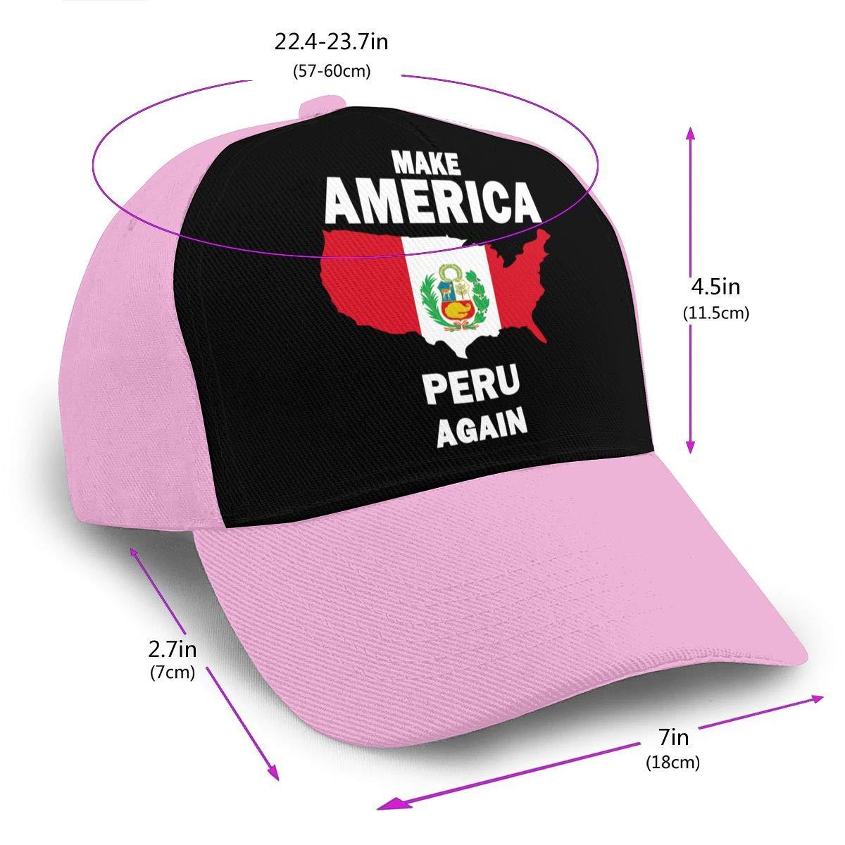 Make America Peru Again Peaked Cap for Unisex Cotton Cricket Cap