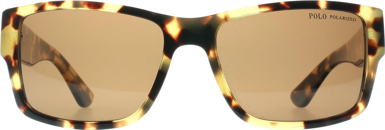 d6a7618d0180 Polo Ralph Lauren Men's Sunglasses Havana Yellow Frame Polarized Brown Lens  PH4061 5004/83 (Havana Yellow, 57mm): Amazon.co.uk: Clothing