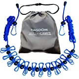 Nasdom Travel Clothesline,4m/13ft Portable Retractable Adjustable Clothes Line Rope with 1 Waterproof Bag, 12…