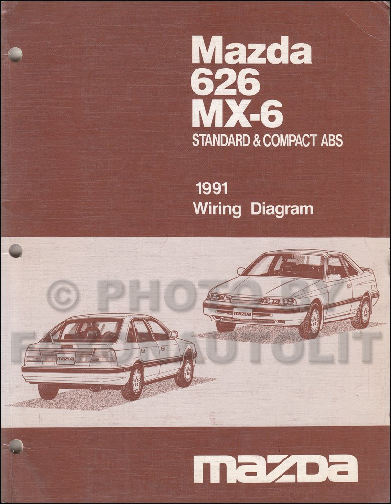 1991 Mazda 626 MX-6 Standard & Compact ABS Wiring Diagram Service Manual  FACTORY: mazda: Amazon.com: Books
