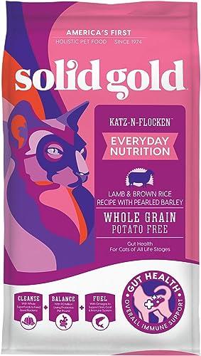 Solid Gold Dry Cat Food Katz-N-Flocken Real Lamb Brown Rice