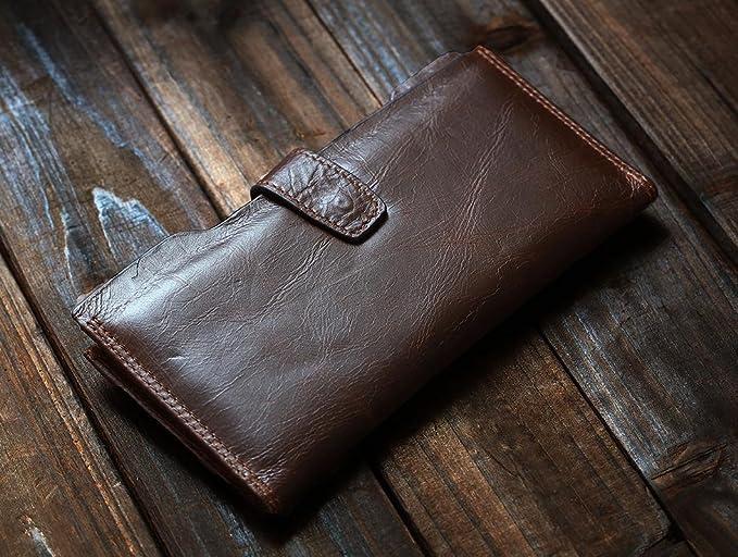 dc9e0cfda1 Kronen Soehne Pelle di vacchetta Bifold Portafoglio con cerniera  portamonete per uomo KWA006: Amazon.it: Abbigliamento