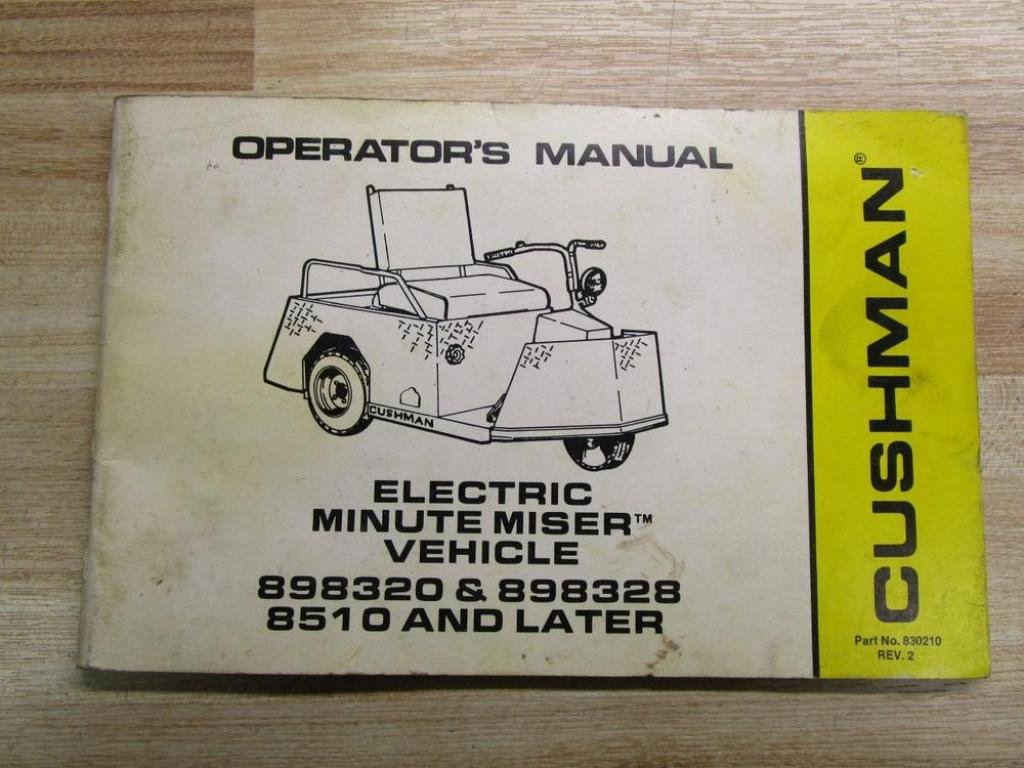 Cushman 898320 Service Manual - Enthusiast Wiring Diagrams •