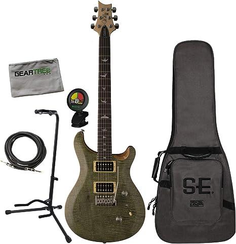 PRS SE Custom 24 Trampas verde guitarra eléctrica Bundle con bolsa ...