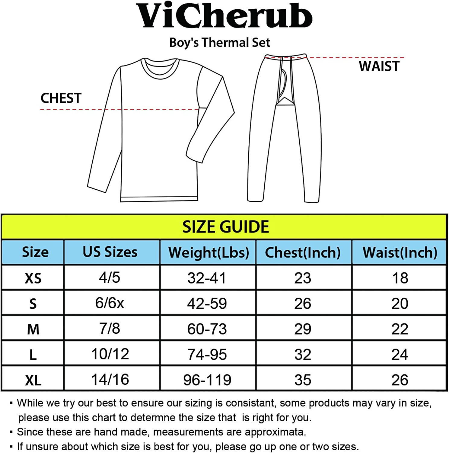 ViCherub Boys Thermal Underwear Set Fleece Lined Long Johns Kids Top /& Bottom Knit Base Layer Winter Warm Sets for Boy