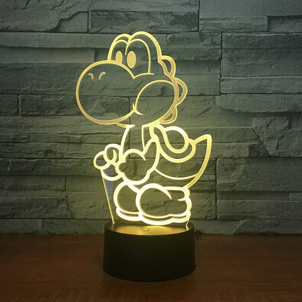 Luz de Noche para Perros LED Ilusión 3D 7 Colores Vestidor Decoración Luz Niño Niño Bebé Kit Lámpara de Mesa Cama Cabezal 11 Controlador