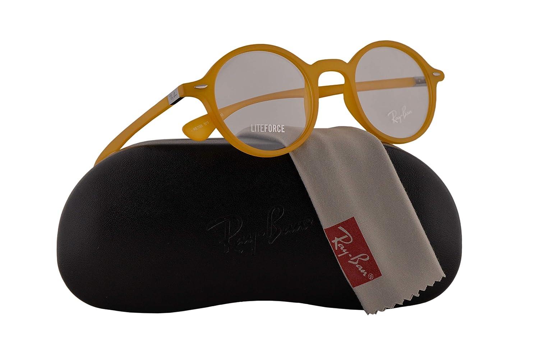 0596fb5a75 Amazon.com  Ray-Ban RX7069 Eyeglasses 46-22-145 Matte Yellow w Demo Clear  Lens 5519 RB 7069 RX 7069 RB7069  Clothing