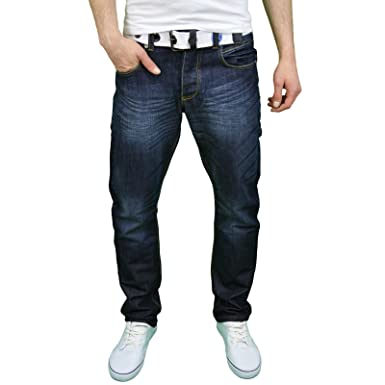 Enzo Mens Regular Fit Jeans