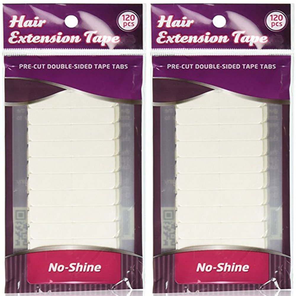 Walker Tape - No Shine - Double Sided Hair Extension Tape, 4 cm x 0.8 cm, 120 Tabs