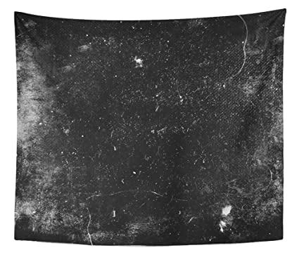 Emvency Tapestry Wall Hanging Texture Scary Grunge Dark Scratched Background Polyester Fabric Home Decor For Living