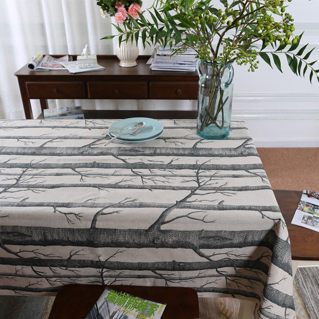 A 200x145cm A 200x145cm Gtt Fashion Space Cotton Linen Tablecloth dining table Coffee Table Tablecloth Cotton Linen Art Life Series (color   A, Size   200x145cm)