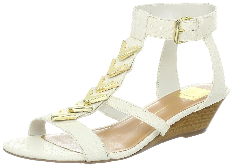 Dolce Vita Women's Helia Wedge Sandal B00AYPC0ZO 7 B(M) US|Bone Leather