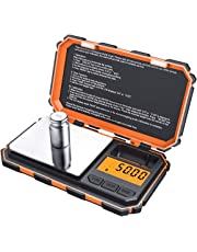 Brifit Digital Mini Scale, 200g /0.01g Pocket Scale, 50g Calibration Weight, Electronic Smart Scale (Orange)