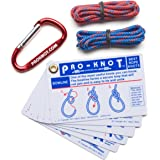 Knot Tying Kit   Pro-Knot Best Rope Knot Cards, two practice cords and a carabiner