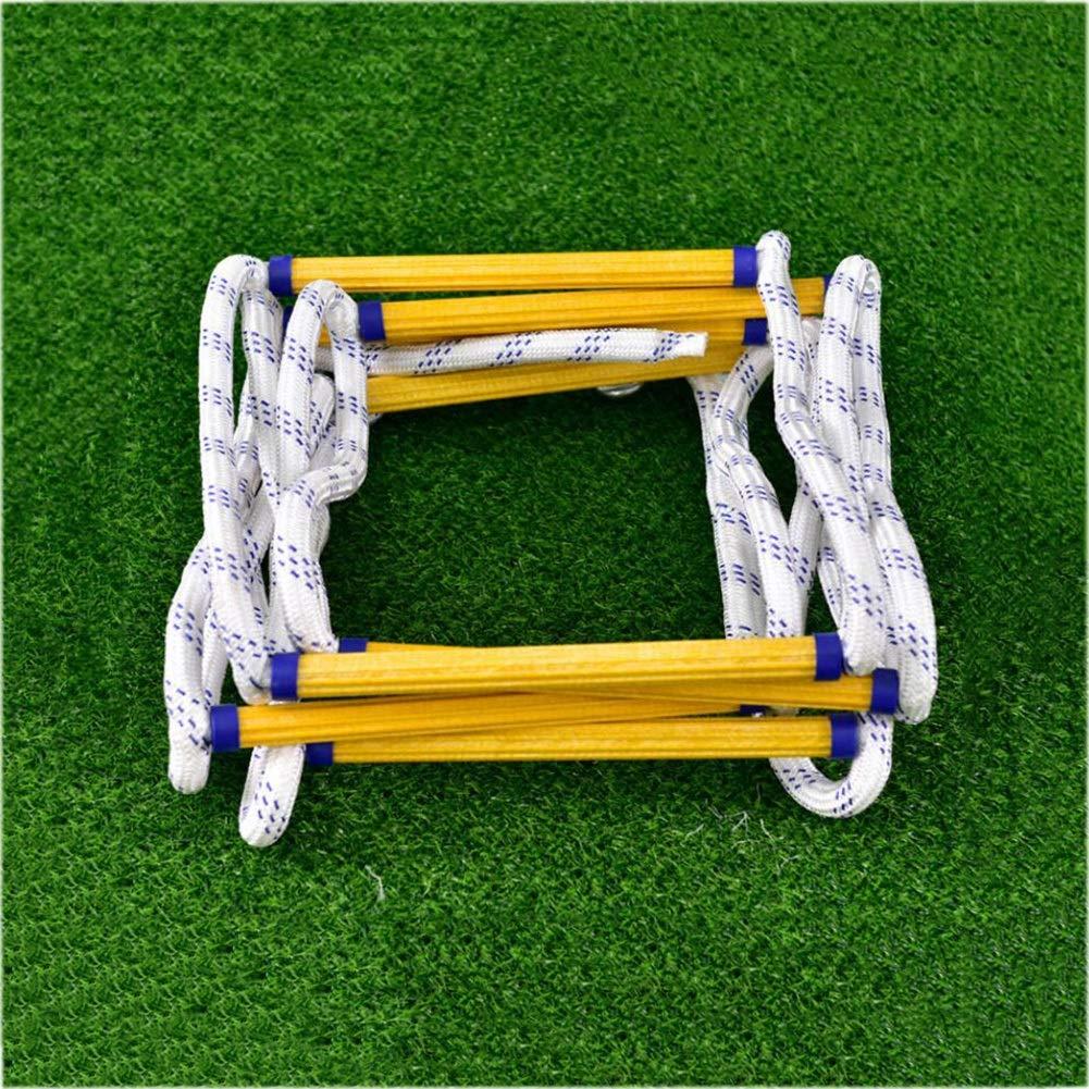 ロープのはしご火災のロープのはしご樹脂の脱出のはしごアンチスキッドのはしご高高度の安全クライミングはしごのレスキューの難燃ラダー (色 : A, サイズ : 50m) A 50m