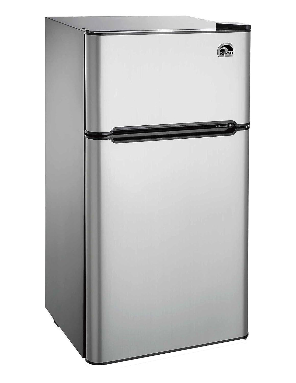 Igloo fr459 2 door refrigerator freezer platinum 4 5 cu ft ebay for Platinum interior refrigerator