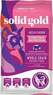 Solid Gold Dry Cat Food; Katz-N-Flocken Real Lamb & Brown Rice
