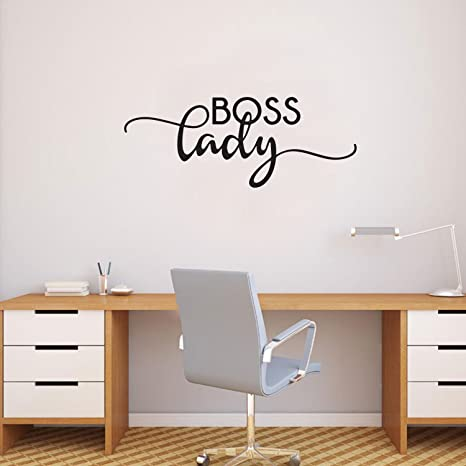 Boss Lady Inspirational Women\'s Quotes - Wall Art Decal - 9\