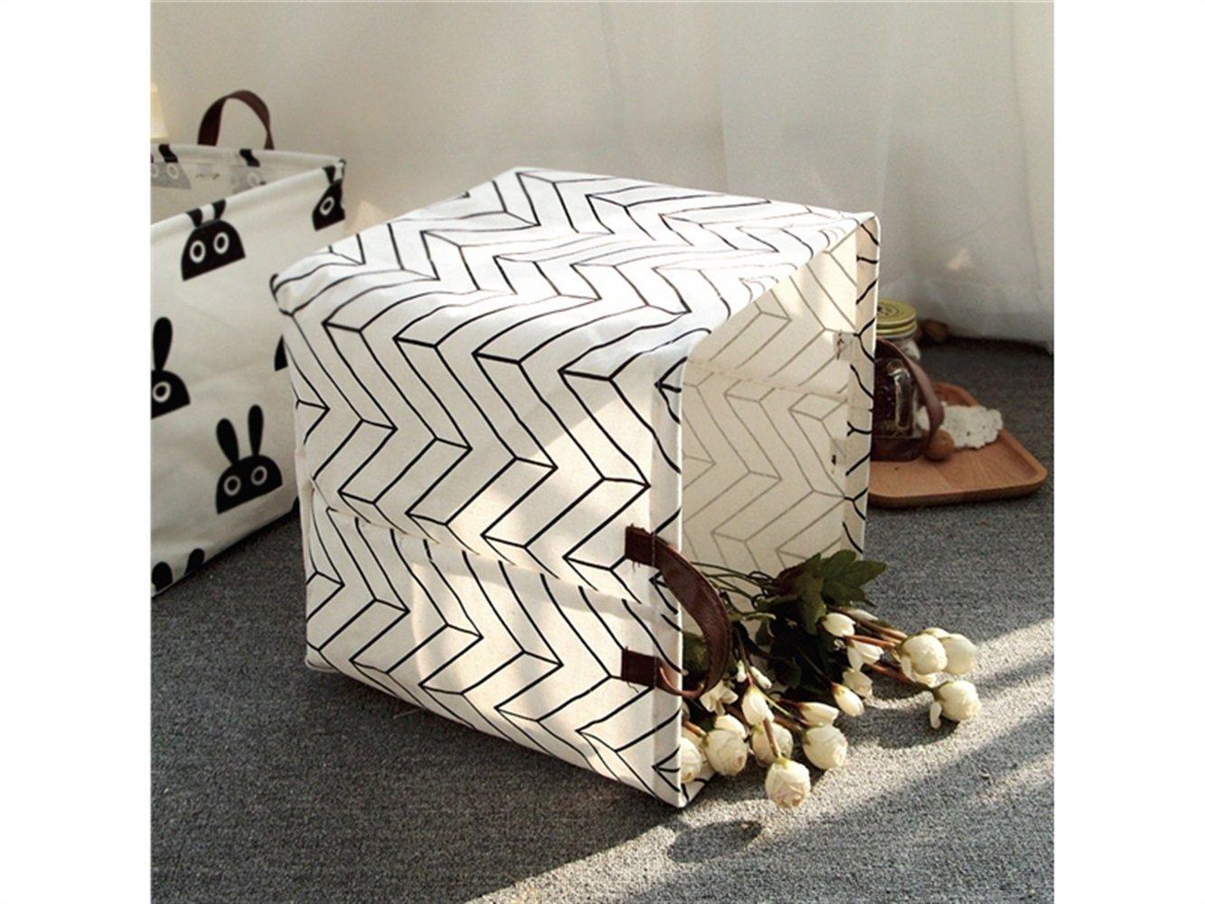 Gelaiken Lightweight Rabbit Square Storage Box Desk Storage Box Holder Jewelry Stationery Cosmetic Case Sundries Storage Box(White) by Gelaiken (Image #3)